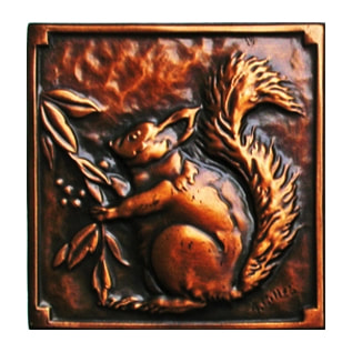 Arts & Crafts Hammered Copper Plaque