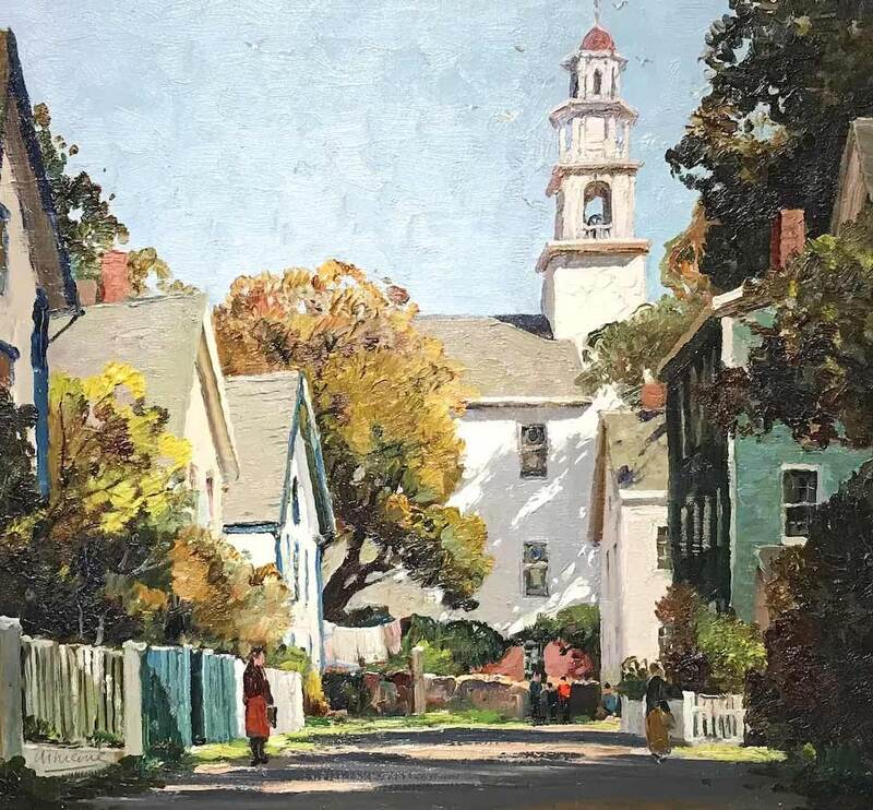 NHAC painting: Anthony Thieme, Gould Court Gloucester, MA