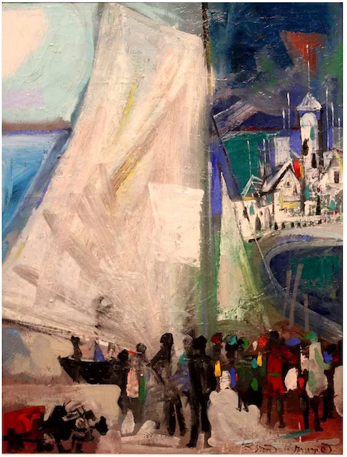 NHAC painting: Byron Browne (1907-1961), The Sail, 1952, $11,500