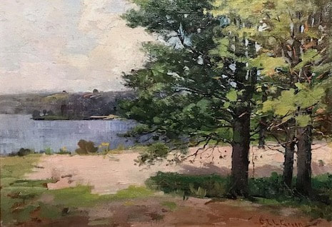 NHAC painting: Charles Edwin Lewis Green (1844-1915), Parker River, Milton, NH, $3,400