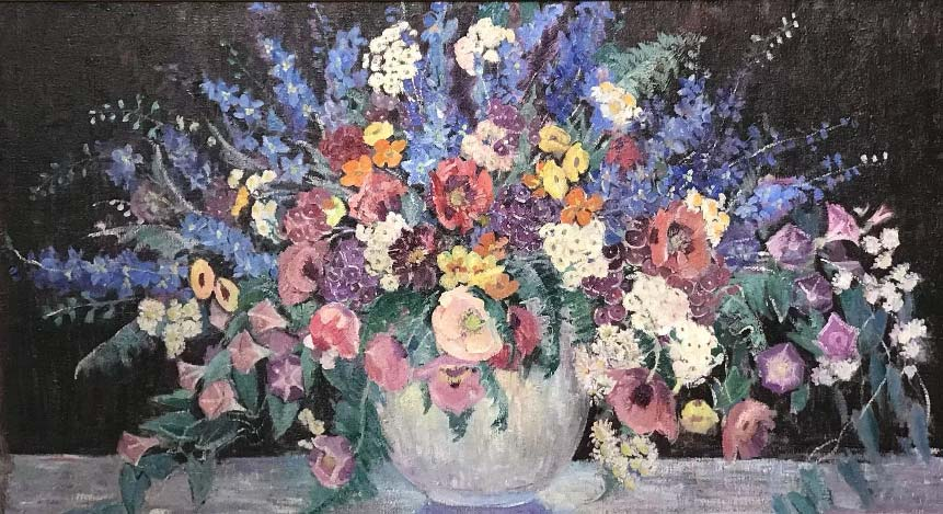 Dorothea M. Litzinger (1889-1925) painting, Still Life with Flowers, $12,000