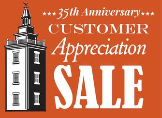 New Hampshire Antique Co-op 35th Anniversary Customer Appreciation Logo