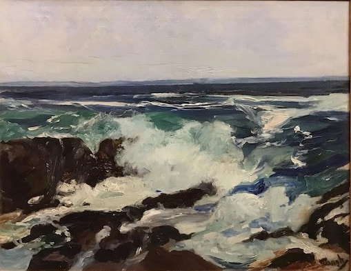 NHAC painting: Frederick Judd Waugh (1861-1940), Surf & Spindrift, $12,500