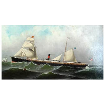 Antonio Jacobsen painting of ship