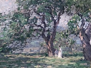 NHAC painting: John Fulton Folinsbee (1892-1972), In the Orchard, $24,000