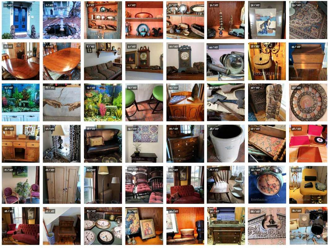 Antiques and vintage items from NHAC's March 2017 Estate Sale in Milford, NH