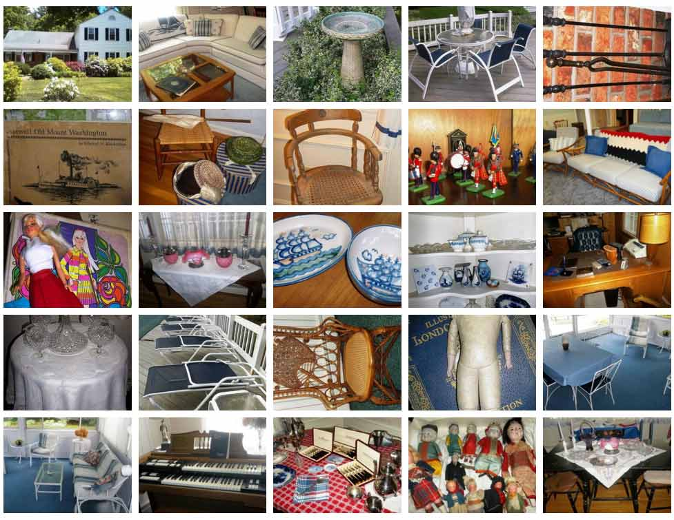 Antiques and vintage items from NHAC's June 2016 Estate Sale in West Boylston, MA