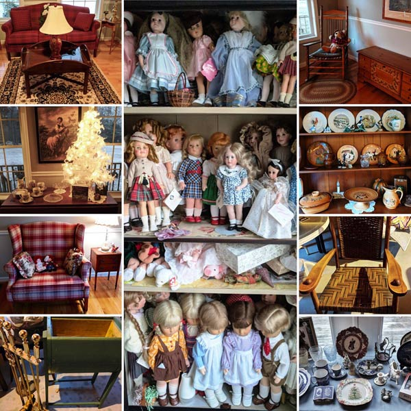 Antiques and vintage items from NHAC's November, 2017 Estate Sale in Temple, NH