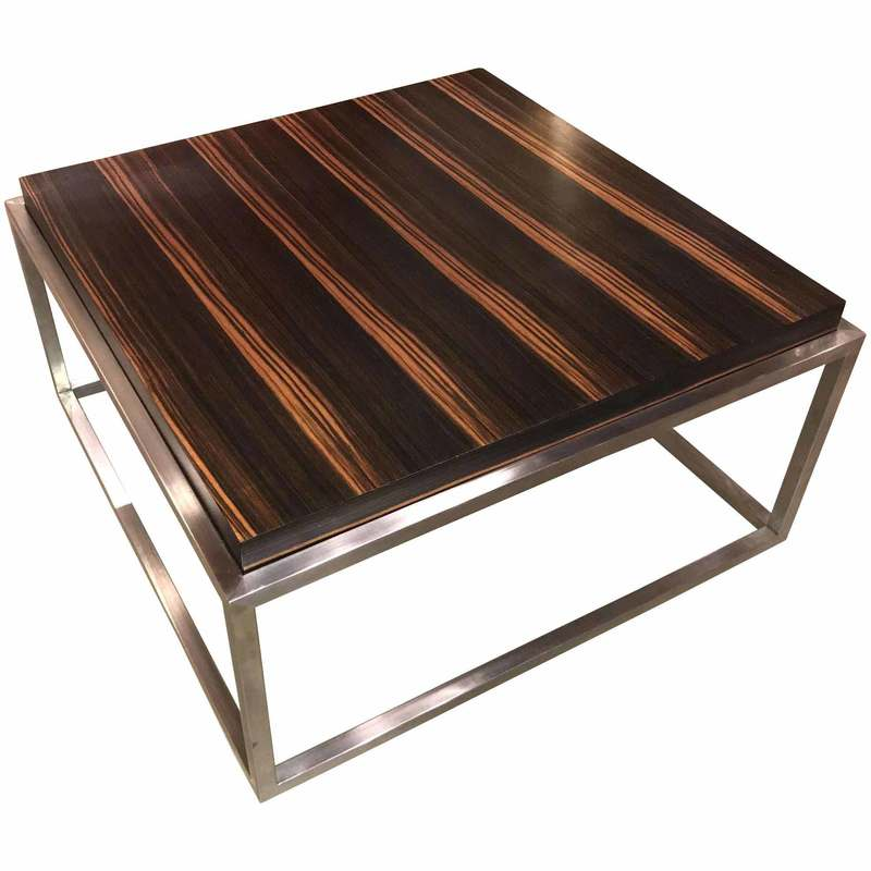 Mid-century modern wood and chrome coffee table - New Hampshire Antique Co-op - New Hampshire Antique Co-op - Home