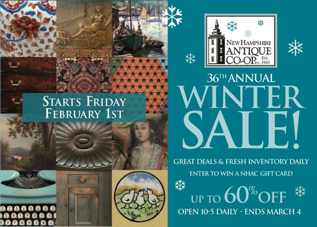 NH Antique Co-op Winter Sale 2019 postcard
