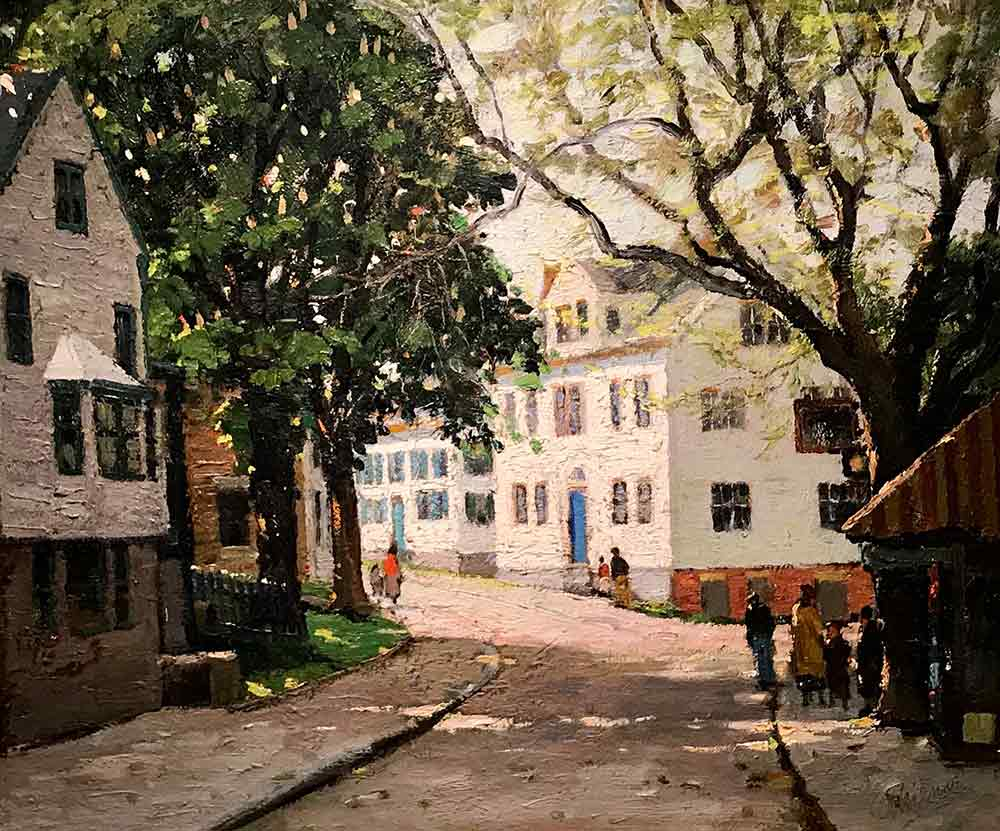 Rockport village oil painting by Anthony Thieme (1888-1954)
