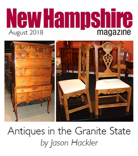 New Hampshire Magazine article on NH antiques by Jason Hackler of NHAC
