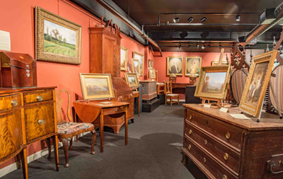 Fine art paintings and period furniture