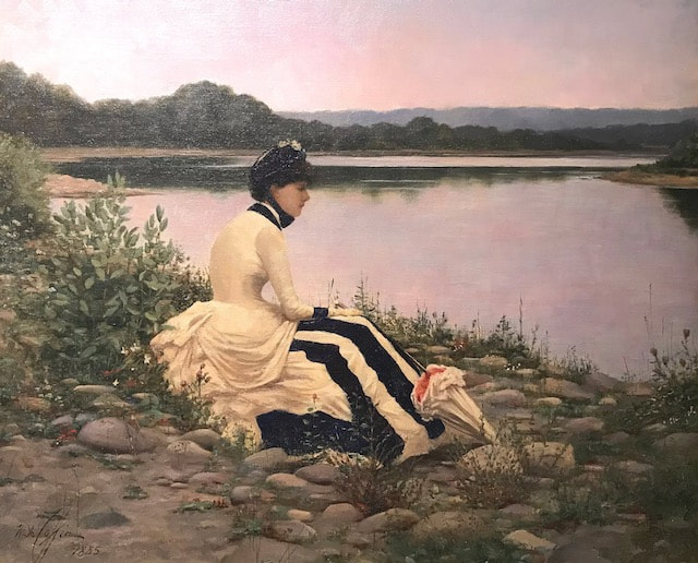 NHAC painting: William Anderson Coffin (1855-1925),  Reflections, 1885, $115,000